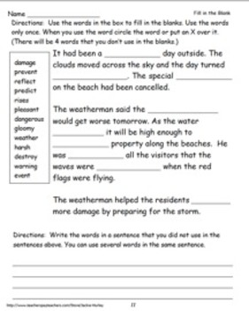Reading Wonders Literacy Center Vocabulary Review Unit 3 Week 4
