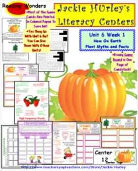 Reading Wonders Literacy Centers U6 W1