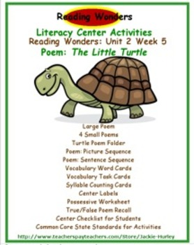 reading wonders literacy centers unit 2 week 5 animals in poems tpt. Black Bedroom Furniture Sets. Home Design Ideas