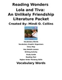 Reading Wonders Lola and Tiva: An Unlikely Friendship Literature Packet