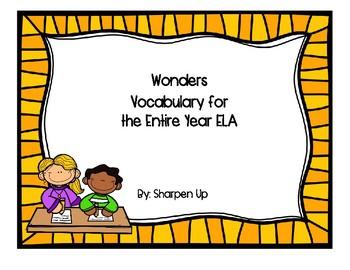 Reading Wonders McGraw Hill Kindergarten Vocabulary Test Bundle
