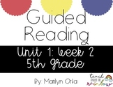 Reading Wonders (McGraw Hill) Unit 1:Week 2 5th Grade