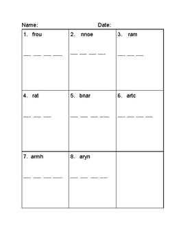 Reading Wonders Modified Spelling Test Unit Five