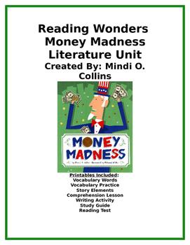 Reading Wonders Money Madness Literature Unit