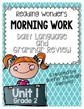 Grade 2 - Unit 1 - Morning Work - Language and Grammar - Wonders