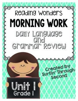 Morning Work-Daily Grammar and Language Review Unit 1 Grade 1
