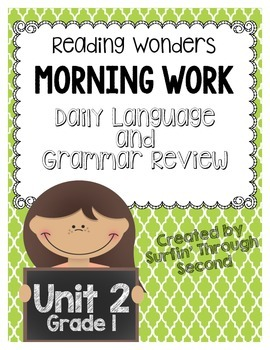 Reading Wonders Morning Work Unit 2 Grade 1