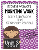 Morning Work- Daily Language and Grammar Review Unit 3 Grade 1