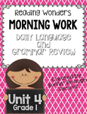 Reading Wonders Morning Work Unit 4 Grade 1
