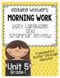 Morning Work - Daily Language and Grammar Review Unit 5 Grade 1