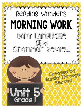 Reading Wonders Morning Work Unit 5 Grade 1