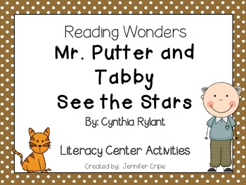 Reading Wonders ~ Mr. Putter and Tabby See the Stars (Unit 3, Week 2)