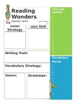Reading Wonders Newsletter Template