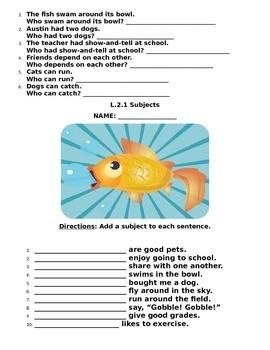 Reading Wonders Not Norman: A Goldfish Story Grammar Packet