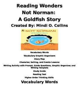 Reading Wonders Not Norman: A Goldfish Story Literature Unit