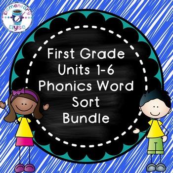 Phonics Word Sort BUNDLE (Units 1-6)