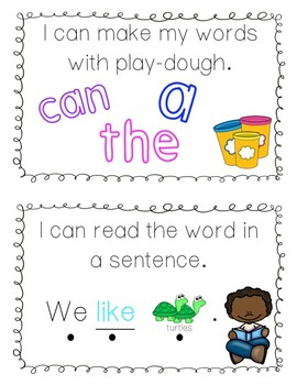 Reading Wonders Play Dough High-Frequency Word Mats