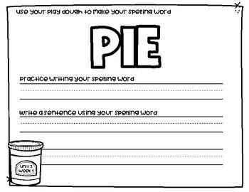 Reading Wonders Play Dough Spelling Mats Unit 2 Grade 3