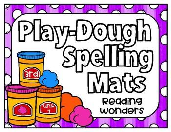 Reading Wonders Play Dough Spelling Mats Unit 4 Grade 3