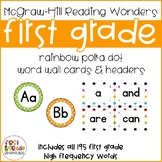 Reading Wonders Polka Dot Word Wall Cards & Headers - Firs