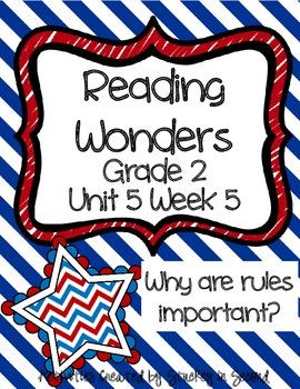 Reading Wonders Grade 2 Unit 5 Week 5