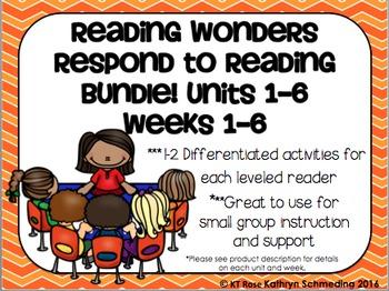 Reading Wonders Respond to Reading Gr 2 Units 1-6 Weeks 1-6 BUNDLE!!!