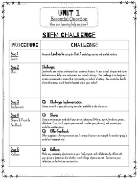 Reading Wonders STEM Challenge: Grade 3 Unit 1