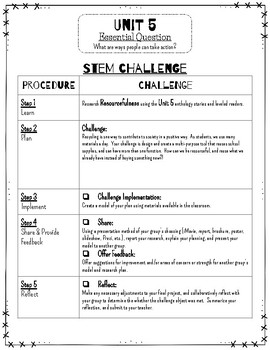Reading Wonders STEM Challenge: Grade 3 Unit 5