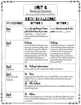 Reading Wonders STEM Challenge: Unit 6 Grade 4