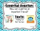 Reading Wonders Second Grade Essential Questions - Unit 1, Chevron Theme