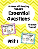 Reading Wonders Second Grade Essential Questions - Unit 1,