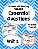 Reading Wonders Second Grade Essential Questions - Unit 2,