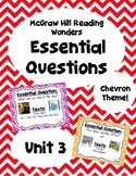 Reading Wonders Second Grade Essential Questions - Unit 3,