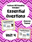 Reading Wonders Second Grade Essential Questions - Unit 4,