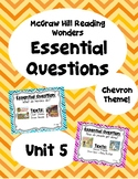 Reading Wonders Second Grade Essential Questions - Unit 5,