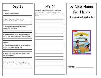 Reading Wonders Second Grade Leveled Reader Brochures Unit 1 Week 3 (All Levels)