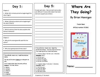 Reading Wonders Second Grade Leveled Reader Brochures Unit 2 Week 1