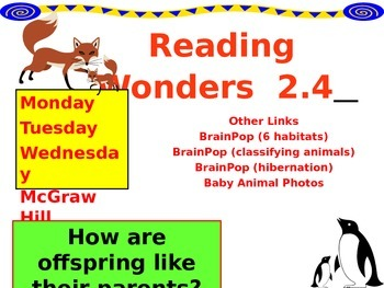 Wonders Reading Second Grade Power Point Unit 2.4