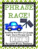 Reading Wonders - {Second Grade} - Unit 3 Phrase Race! Sight Word Phrase Cards