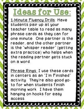 Reading Wonders - {Second Grade} - Unit 3 Phrase Race! Sight Word Phrase Cards