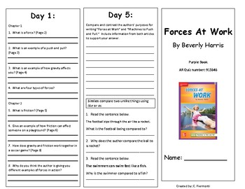 Reading Wonders Second Grade Unit 3 Week 1 Leveled Reader Brochures