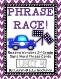 Reading Wonders - {Second Grade} - Unit 4 Phrase Race! Sight Word Phrase Cards