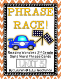 Reading Wonders - {Second Grade} - Unit 5 Phrase Race! Sight Word Phrase Cards