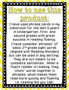 Reading Wonders - {Second Grade} - Unit 6 Phrase Race! Sight Word Phrase Cards