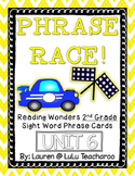 Reading Wonders - {Second Grade} - Unit 6 Phrase Race! Sight Word Phrase Cards