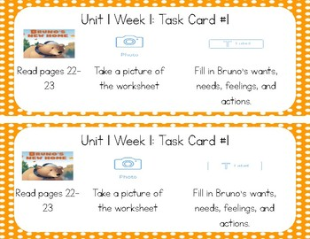 3rd Grade Reading Wonders Seesaw Task Cards Unit 1
