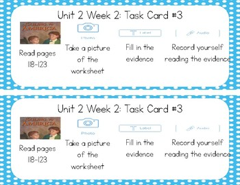 3rd Grade Reading Wonders Seesaw Task Cards Unit 2