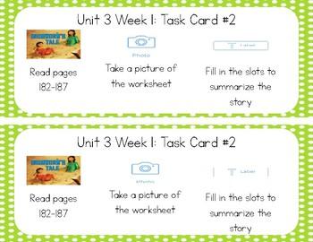 3rd Grade Reading Wonders Seesaw Task Cards Unit 3