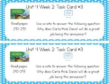 3rd Grade Reading Wonders Seesaw Task Cards Unit 4