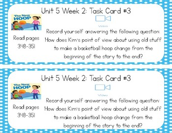 3rd Grade Reading Wonders Seesaw Task Cards Unit 5
